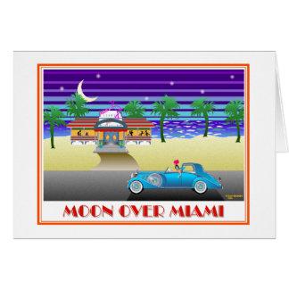 Tarjeta Luna sobre Miami