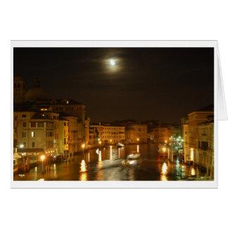 Tarjeta Luna sobre Venecia