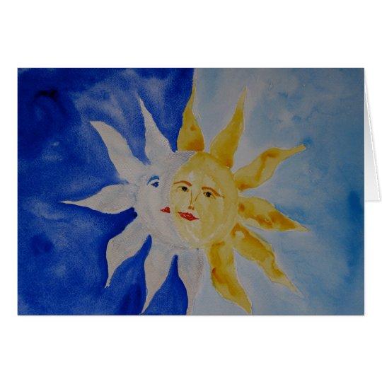 Tarjeta Luna y Sun