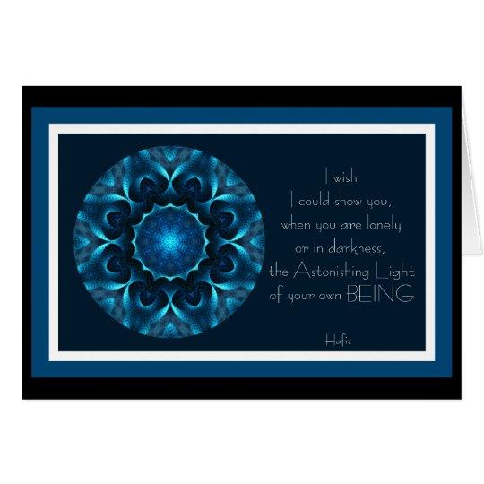 Tarjeta Luz asombrosa A001 de su Being.Card.1
