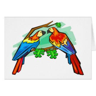 Tarjeta Macaws del escarlata