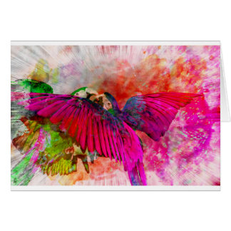 Tarjeta Macaws rosados