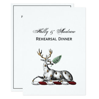 Tarjeta Macho de los ciervos con el emblema heráldico del