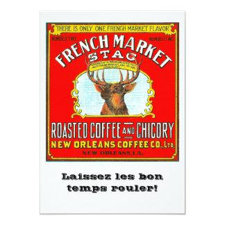 Tarjeta Macho francés del mercado