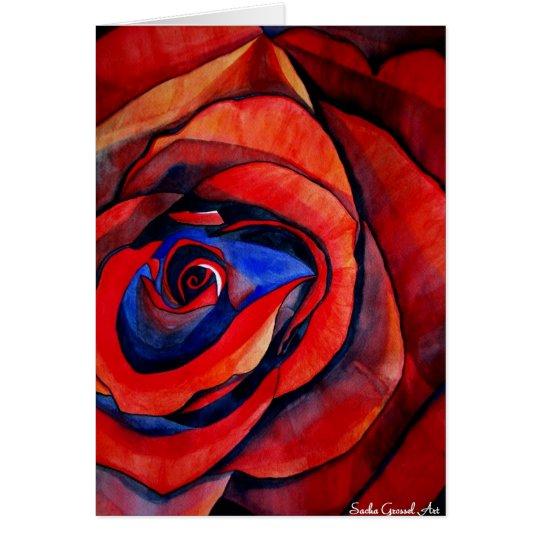 Tarjeta macra del el día de San Valentín del arte