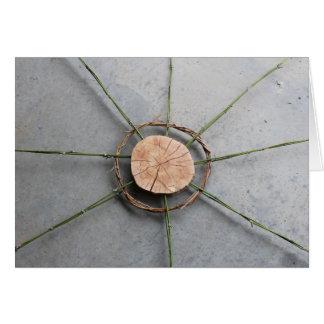 Tarjeta Madera y bambú anchos de la forma 1 del círculo