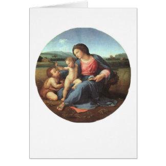 Tarjeta Madonna Alba - Raphael 1508
