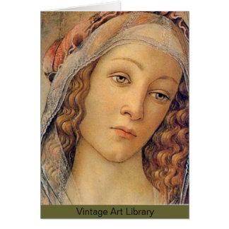 Tarjeta Madonna - Botticelli