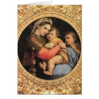 Tarjeta Madonna con el niño de Cristo