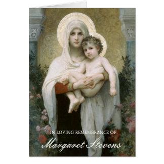 Tarjeta Madonna del entierro de los rosas le agradece