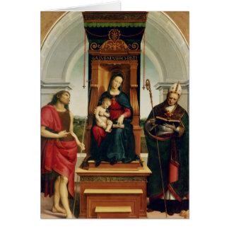 Tarjeta Madonna y el niño