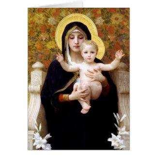 Tarjeta Madonna y niño por el navidad religioso de