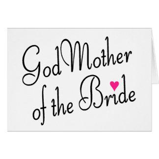 Tarjeta Madre de dios de la novia