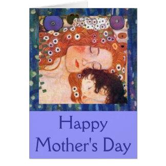 Tarjeta Madre y niño por Klimt