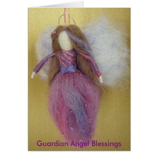 Tarjeta magenta del ángel de guarda