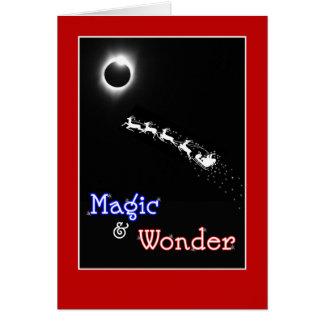 Tarjeta Magia y maravilla para el navidad - eclipse solar