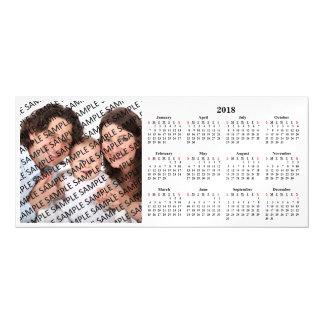 Tarjeta magnética 2018 del calendario de encargo