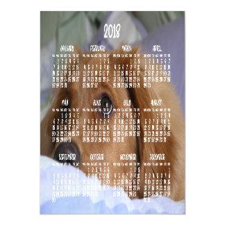 Tarjeta magnética 5x7 del calendario 2018 del