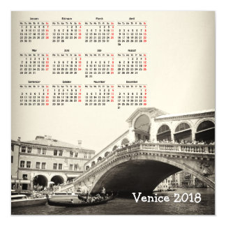 Tarjeta magnética del calendario de Venecia,