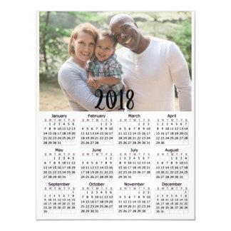 Tarjeta magnética personalizada de la foto de 2018