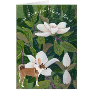 Tarjeta Magnolia con el noruego Lund, la condolencia o la