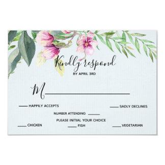 Tarjeta Magnolia RSVP de la acuarela