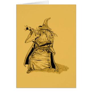 Tarjeta mago con el gorra acentuado