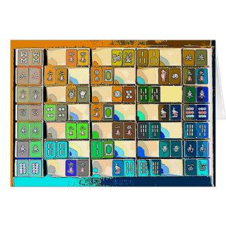 Tarjeta Mahjong Notecard