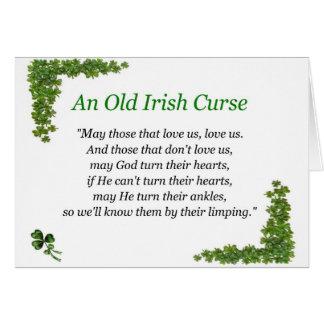 Tarjeta maldición del irlandés
