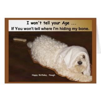 Tarjeta maltesa del humor del cumpleaños para