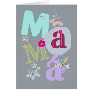Tarjeta mamá, el día de madre feliz en español