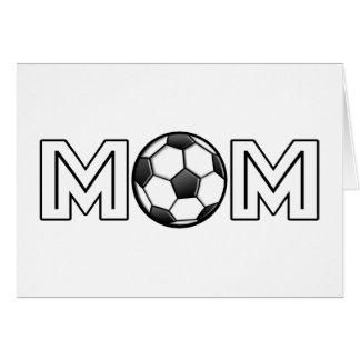 Tarjeta Mamá feliz del fútbol del día de madre