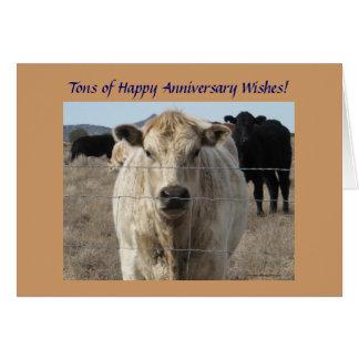 Tarjeta Manada de ganado occidental del aniversario de