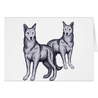 Tarjeta Manada de lobos