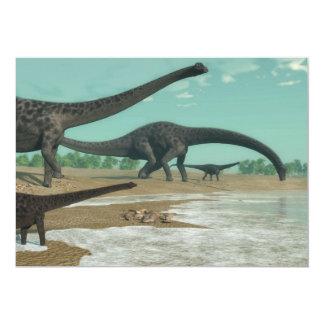 Tarjeta Manada de los dinosaurios del Diplodocus - 3D