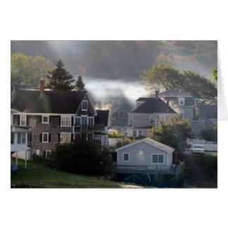 Tarjeta Mañana de niebla de Maine