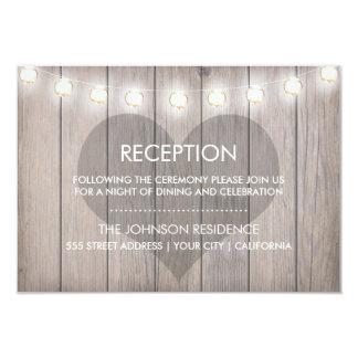 Tarjeta manchada corazón de la recepción invitación 8,9 x 12,7 cm