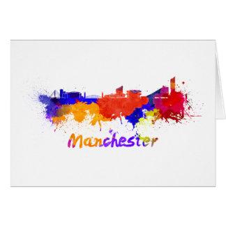 Tarjeta Manchester skyline in watercolor
