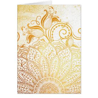 Tarjeta Mandala - cepillo de oro