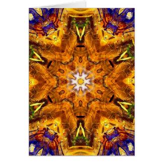 Tarjeta Mandala coloreada multi de oro
