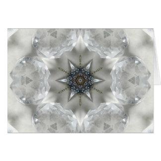 Tarjeta Mandala cristalina de la claridad