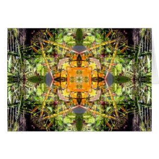 Tarjeta Mandala de la ave del paraíso