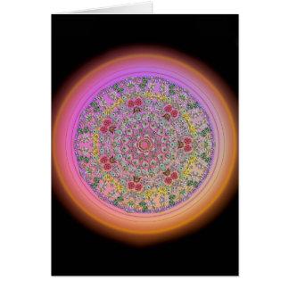 Tarjeta Mandala de la flor - esconda dentro