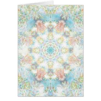 Tarjeta Mandala en colores pastel de la flor