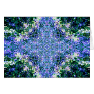 Tarjeta Mandala violeta de la sobrecarga
