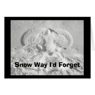 Tarjeta ¡Manera de la nieve que olvidaría desearle feliz