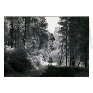 Tarjeta Manera del bosque/fotografía infrarroja