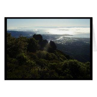Tarjeta Manera para arriba en Mt Tam