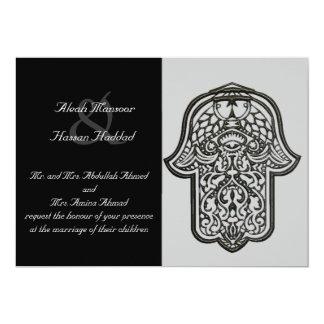 Tarjeta Mano de la alheña de Hamsa (boda)
