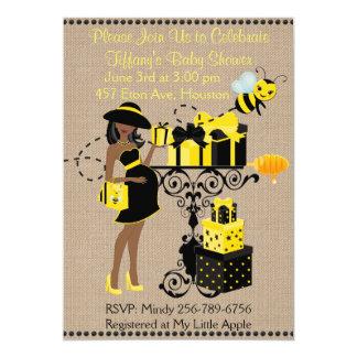 Tarjeta Manosee a señora Yellow african de la abeja que la